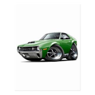 1970 AMX Green Car Postcard