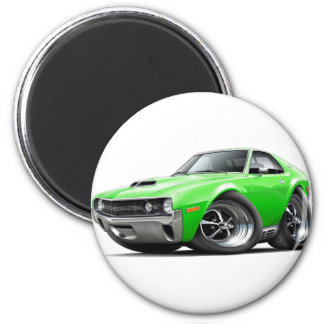 1970 AMX Lime Car 2 Inch Round Magnet
