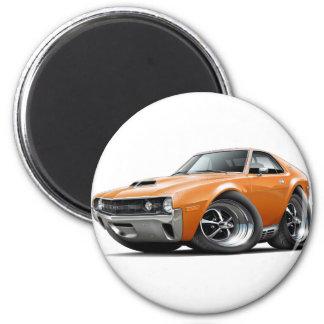1970 AMX Orange Car 2 Inch Round Magnet
