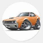 1970 AMX Orange Car Classic Round Sticker