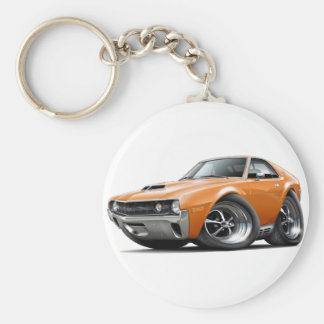 1970 AMX Orange Car Keychain