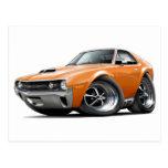 1970 AMX Orange Car Postcard