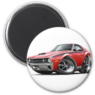 1970 AMX Red-Black Car 2 Inch Round Magnet