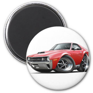 1970 AMX Red Car 2 Inch Round Magnet