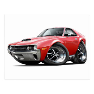 1970 AMX Red Car Postcard
