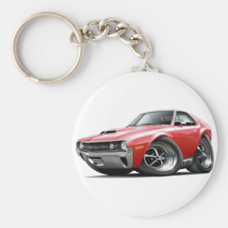 1970 AMX Red-White Car Keychain