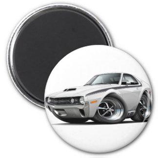 1970 AMX White-Black Car 2 Inch Round Magnet