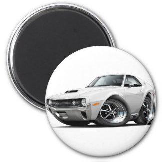 1970 AMX White Car 2 Inch Round Magnet