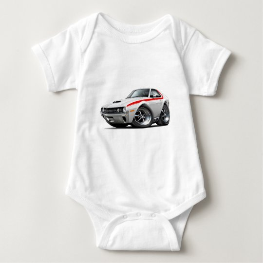 1970 AMX White-Red Car Baby Bodysuit