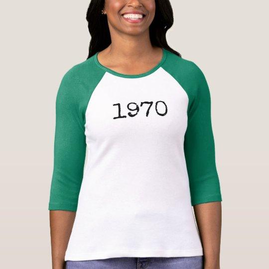 """1970"" baseball tee"