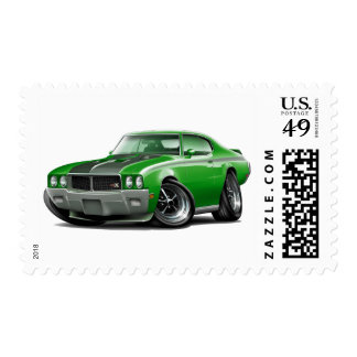 1970 Buick GSX Green Car Postage Stamp