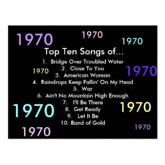1970 canciones tarjetas postales