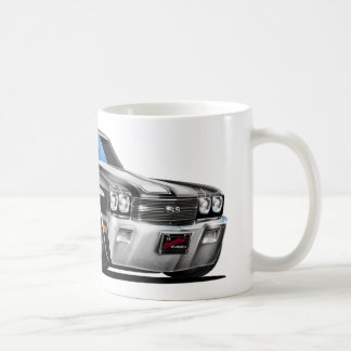 1970 Chevelle Black-White Car Coffee Mug