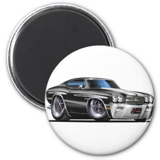 1970 Chevelle Black-White Car Magnet
