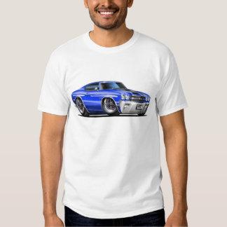 1970 Chevelle Blue-Black Car T-Shirt