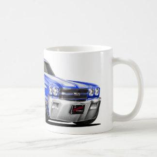 1970 Chevelle Blue-White Car Coffee Mug