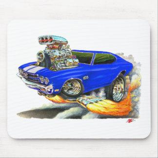 1970 Chevelle Blue-White Car Mousepad