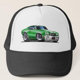 1970 Chevelle Green-White Car Trucker Hat