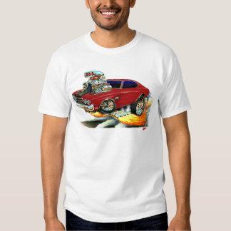 1970 Chevelle Maroon-Black Car T-Shirt