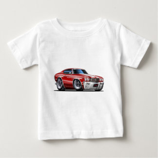 1970 Chevelle Maroon-White Car Baby T-Shirt