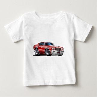 1970 Chevelle Maroon-White Car Baby T-Shirt
