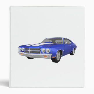 1970 Chevelle Muscle Car: Blue FInish: Binder