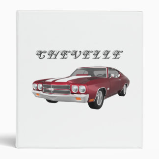 1970 Chevelle Muscle Car: Candy Apple: Binder