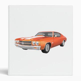 1970 Chevelle Muscle Car: Orange FInish: Binder