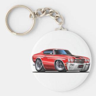 1970 Chevelle Red-Black Car Keychain
