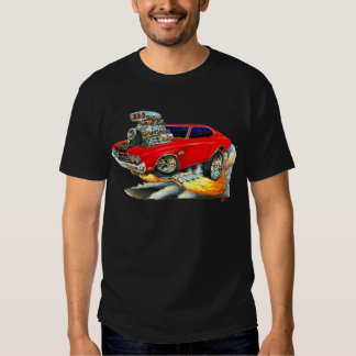 1970 Chevelle Red-Black Car T-Shirt