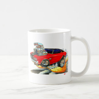 1970 Chevelle Red-Black Top Car Classic White Coffee Mug
