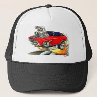 1970 Chevelle Red-Black Top Car Trucker Hat