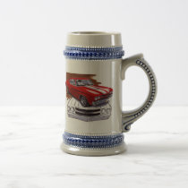 1970 Chevelle Red-White Car Beer Stein