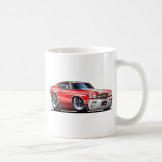 1970 Chevelle Red-White Car Coffee Mug