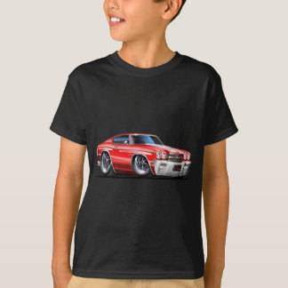 1970 Chevelle Red-White Car T-Shirt