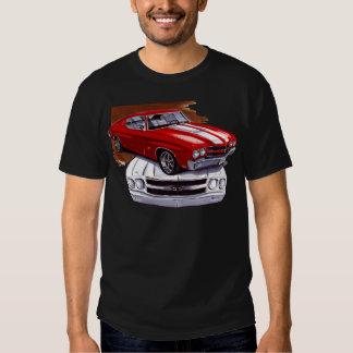 1970 Chevelle Red-White Car T-Shirt