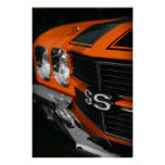 1970 Chevelle S396 Orange Poster