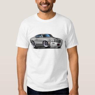 1970 Chevelle Silver-Black Car T-Shirt