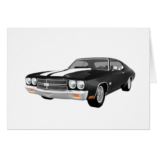 1970 Chevelle SS: Black Finish: Card