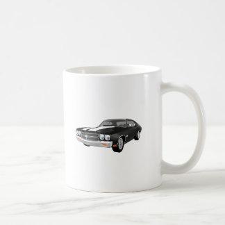 1970 Chevelle SS: Black Finish: Classic White Coffee Mug