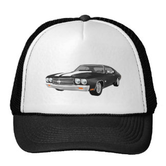 1970 Chevelle SS: Black Finish: Trucker Hat