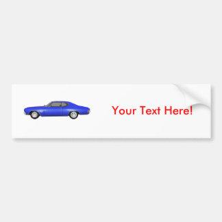 1970 Chevelle SS: Blue Finish: Bumper Sticker