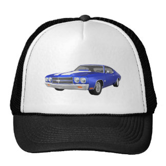 1970 Chevelle SS Blue Finish Trucker Hats