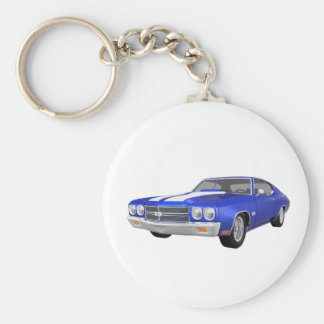 1970 Chevelle SS: Blue Finish: Key Chain