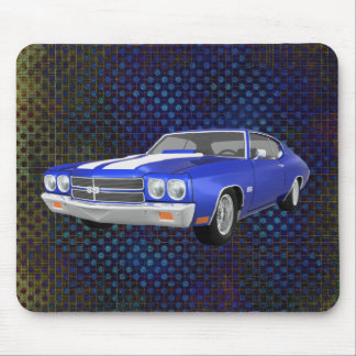 1970 Chevelle SS: Blue Finish: Mousepad