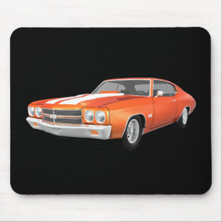 1970 Chevelle SS Orange Finish Mouse Pads
