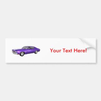 1970 Chevelle SS: Purple Finish: Bumper Sticker