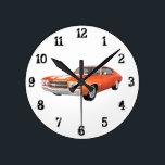 """1970 Chevelle SS: Wall Clock<br><div class=""""desc"""">3d model artwork by: Brady Arnold.</div>"""