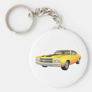 1970 Chevelle SS: Yellow Finish: Keychain
