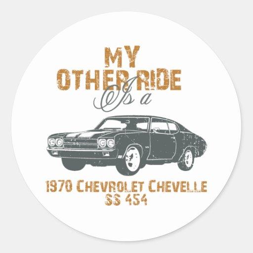 1970 Chevrolet Chevelle SS 454 Classic Round Sticker